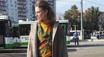 Ксения Собчак примерила образ из 90-х